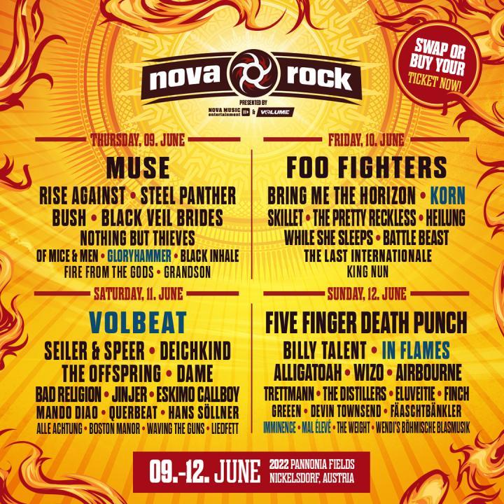 NOVA ROCK Φεστιβάλ 09-12/06/22